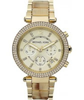 Buy Michael Kors Ladies Horn and Gold Parker Watch online