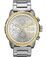 Buy Diesel Ladies Franchise Chronograph Silver Watch online