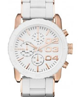 Buy Diesel Ladies Franchise Chronograph White Watch online