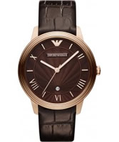 Buy Emporio Armani Mens Brown Classic Dino Watch online
