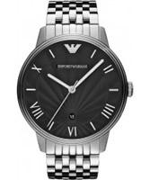Buy Emporio Armani Mens Black Silver Classic Dino Watch online