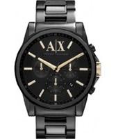 Buy Armani Exchange Mens All Black Banks Chronograph Smart Watch online