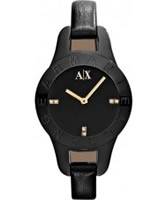Buy Armani Exchange Ladies Black Lilly Smart Watch online