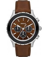 Buy DKNY Mens Sport Brown Leather Watch online