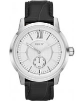 Buy DKNY Mens Casual Black Leather Watch online