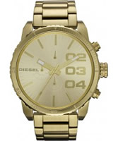 Buy Diesel Mens Franchise Gold Chrono Watch online