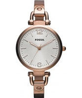 Buy Fossil Ladies Rose Gold Georgia Watch online