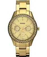 Buy Fossil Ladies Stella Gold Watch online