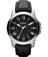 Buy Fossil Mens Black Grant Watch online