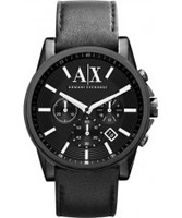 Buy Armani Exchange Mens Black Outer Banks Chronograph Smart Watch online