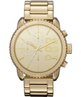 Buy Diesel Ladies Franchise Chronograph Gold Watch online