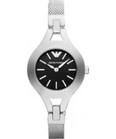 Buy Emporio Armani Ladies Black and Silver Chiara Watch online