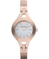 Buy Emporio Armani Ladies Pearl and Rose Gold Chiara Watch online