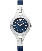 Buy Emporio Armani Ladies Blue Silver Chiara Watch online