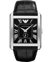 Buy Emporio Armani Mens Black Marco Watch online