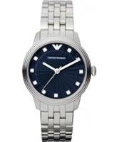 Buy Emporio Armani Ladies Classic Dino Blue Silver Watch online