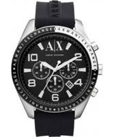 Buy Armani Exchange Mens Black Zacharo Active Chronograph Watch online