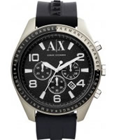 Buy Armani Exchange Mens Black Zacharo Active Chronograph Watch online