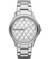 Buy Armani Exchange Ladies Silver Hampton Smart Watch online