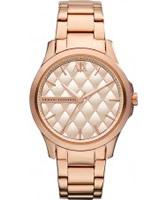 Buy Armani Exchange Ladies Rose Gold Hampton Smart Watch online