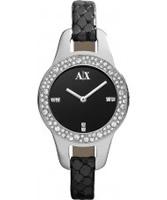 Buy Armani Exchange Ladies Black Pipa Smart Watch online