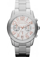 Buy Michael Kors Ladies Mercer Chronograph Silver Watch online