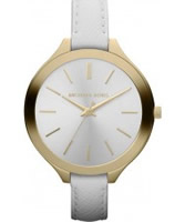 Buy Michael Kors Ladies White Slim Runaway Watch online