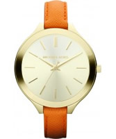 Buy Michael Kors Ladies Gold and Orange Slim Runaway Watch online