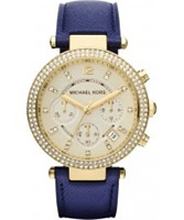 Buy Michael Kors Ladies Gold and Navy Blue Parker Watch online