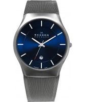 Buy Skagen Mens Blue and Grey Aktiv Titanium Watch online