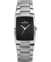 Buy Skagen Mens Silver Black Watch online