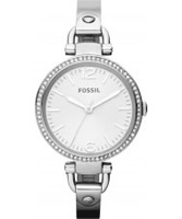 Buy Fossil Ladies Silver Georgia Watch online