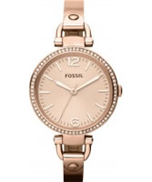 Buy Fossil Ladies Rose Gold Georgia Watch online