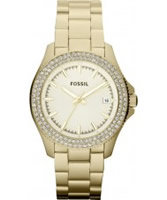 Buy Fossil Ladies Retro Traveller Gold Watch online