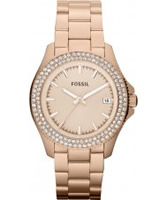 Buy Fossil Ladies Retro Traveller Rose Gold Watch online