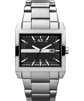 Buy Armani Exchange Mens Black Silver Tenno Smart Watch online