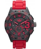 Buy Adidas Mens Newburgh Red Chronograph Watch online