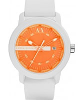 Buy Armani Exchange Orange White Active Watch online