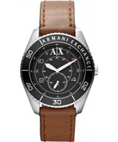 Buy Armani Exchange Mens Black Brown Gunnison Active Watch online