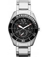 Buy Armani Exchange Mens Black Silver Gunnison Active Watch online