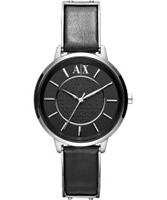 Buy Armani Exchange Ladies Black Olivia Smart Watch online