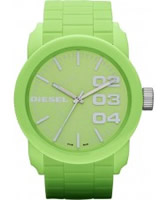 Buy Diesel Mens Franchise DSL Green Watch online