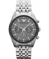 Buy Emporio Armani Mens Silver Tazio Sportivo Watch online