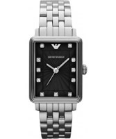 Buy Emporio Armani Ladies Black Silver Retro Classic Dino Watch online