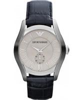 Buy Emporio Armani Mens Grey Blue Valente Watch online