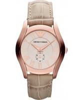 Buy Emporio Armani Ladies Cream Beige Valente Watch online