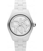 Buy DKNY Ladies White Black Watch online