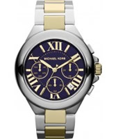 Buy Michael Kors Mens Navy Camille Chronograph Watch online