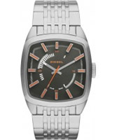 Buy Diesel Mens Scalped Silver Tone Bracelet Watch online