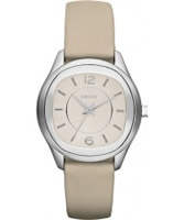 Buy DKNY Ladies Nude Leather Strap Watch online